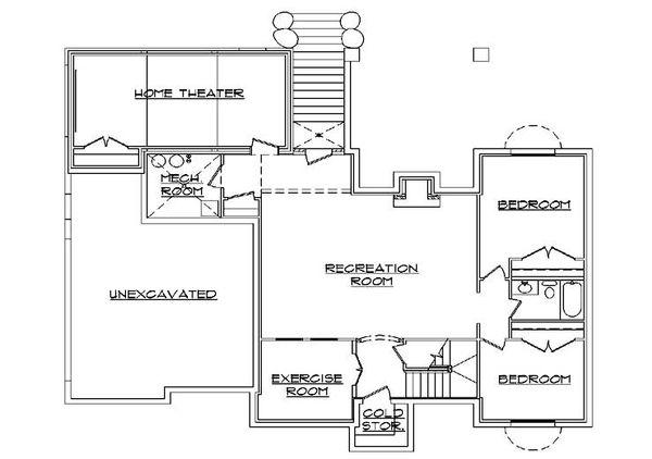 Home Plan - European Floor Plan - Lower Floor Plan #5-372