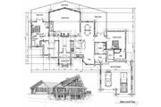 Log Style House Plan - 5 Beds 4 Baths 3867 Sq/Ft Plan #451-2 Floor Plan - Main Floor Plan
