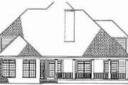 European Style House Plan - 4 Beds 4 Baths 2642 Sq/Ft Plan #17-2136 Exterior - Rear Elevation
