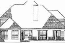 House Design - European Exterior - Rear Elevation Plan #17-2136