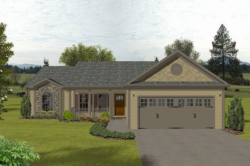 Traditional Exterior - Front Elevation Plan #56-115 - Houseplans.com