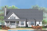 Traditional Style House Plan - 3 Beds 2 Baths 1795 Sq/Ft Plan #929-882 Exterior - Rear Elevation