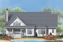 House Plan Design - Traditional Exterior - Rear Elevation Plan #929-882