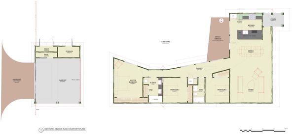 Modern Floor Plan - Main Floor Plan Plan #450-4