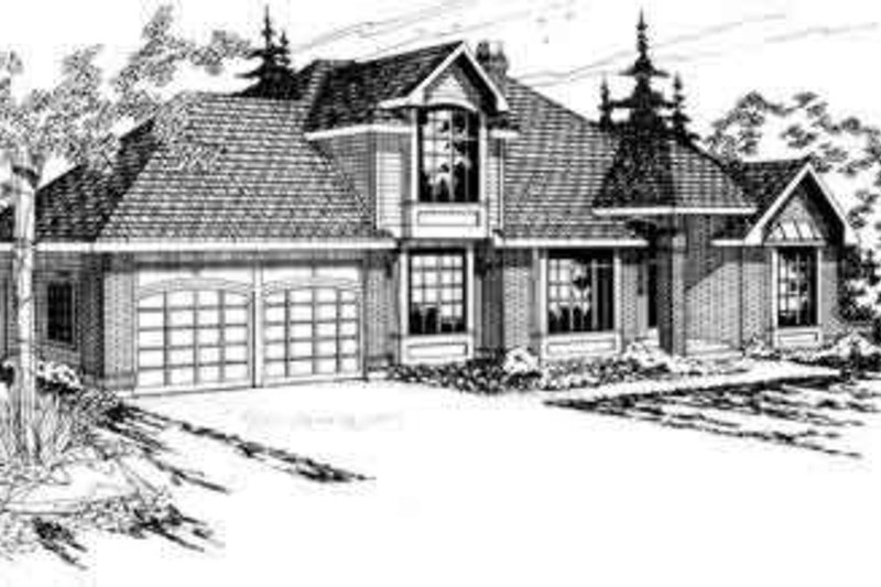 Modern Exterior - Front Elevation Plan #124-126