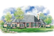 European Style House Plan - 3 Beds 3.5 Baths 3587 Sq/Ft Plan #20-1145 Exterior - Rear Elevation