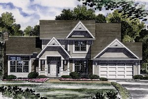 Home Plan - Country Exterior - Front Elevation Plan #316-101