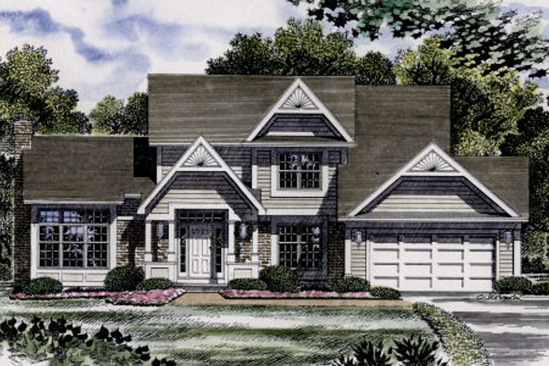 Country Exterior - Front Elevation Plan #316-101 - Houseplans.com
