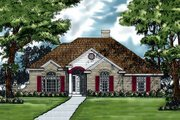 European Style House Plan - 3 Beds 2 Baths 1891 Sq/Ft Plan #40-105 Exterior - Front Elevation