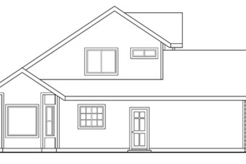 Traditional Exterior - Other Elevation Plan #124-347 - Houseplans.com