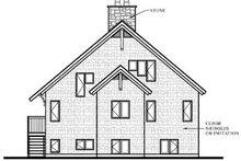 House Plan Design - Modern Exterior - Rear Elevation Plan #23-416