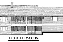 House Blueprint - Ranch Exterior - Rear Elevation Plan #18-126