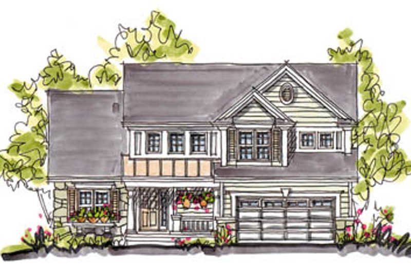 Architectural House Design - Country Exterior - Front Elevation Plan #20-248