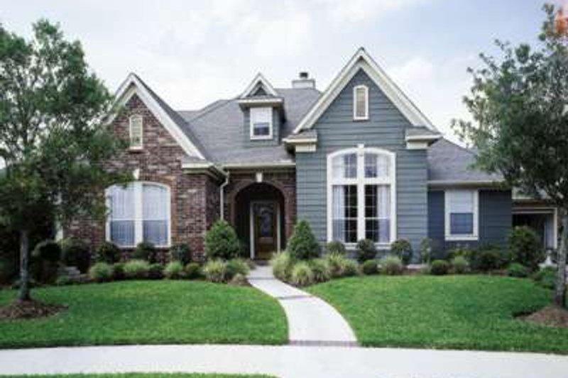 Dream House Plan - European Exterior - Front Elevation Plan #410-412