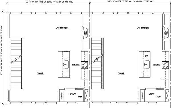 Modern Floor Plan - Main Floor Plan Plan #448-1