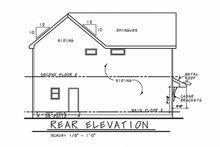 House Plan Design - Craftsman Exterior - Rear Elevation Plan #20-2326