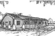 Ranch Style House Plan - 3 Beds 2 Baths 1955 Sq/Ft Plan #30-166