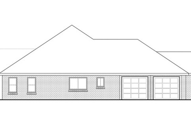 Ranch Exterior - Other Elevation Plan #124-834 - Houseplans.com