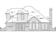 European Exterior - Rear Elevation Plan #310-415