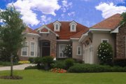 European Style House Plan - 3 Beds 3.5 Baths 4741 Sq/Ft Plan #135-200 Exterior - Front Elevation