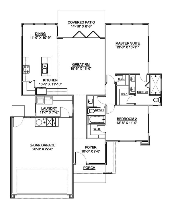 Modern Floor Plan - Main Floor Plan #1073-5