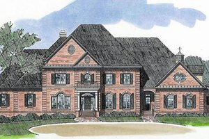 Classical Exterior - Front Elevation Plan #1054-90