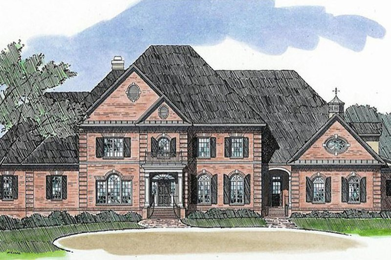 Classical Style House Plan - 4 Beds 6.5 Baths 6061 Sq/Ft Plan #1054-90