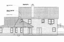 Home Plan - Country Exterior - Rear Elevation Plan #72-334