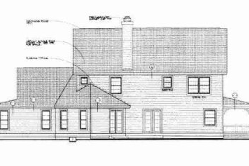 Country Exterior - Rear Elevation Plan #72-334 - Houseplans.com