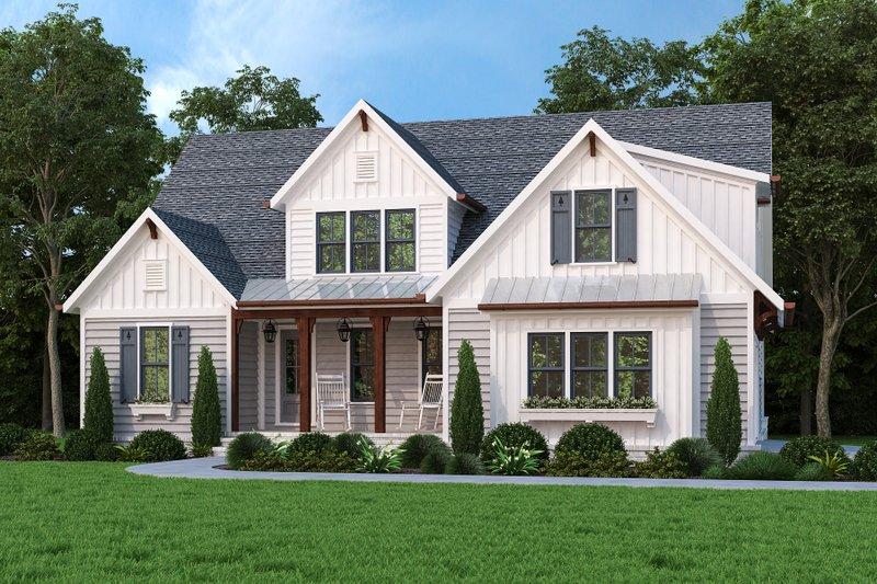 Home Plan - Farmhouse Exterior - Front Elevation Plan #927-1020