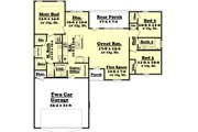 Ranch Style House Plan - 3 Beds 2 Baths 1500 Sq/Ft Plan #430-59 Floor Plan - Main Floor Plan