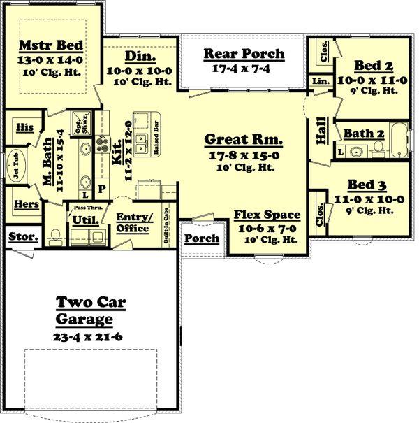 Home Plan - Ranch Floor Plan - Main Floor Plan #430-59