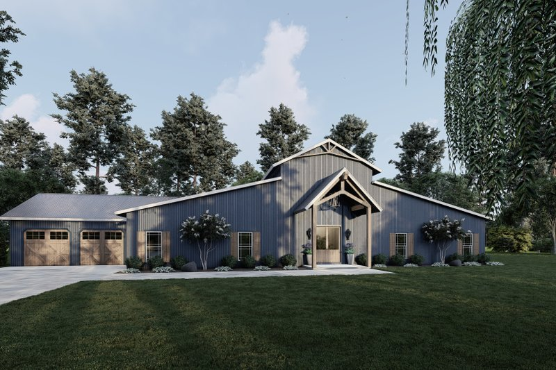 Architectural House Design - Country Exterior - Front Elevation Plan #923-213