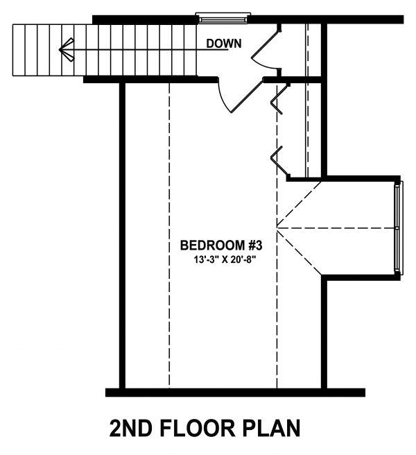 Craftsman Floor Plan - Upper Floor Plan Plan #1057-12
