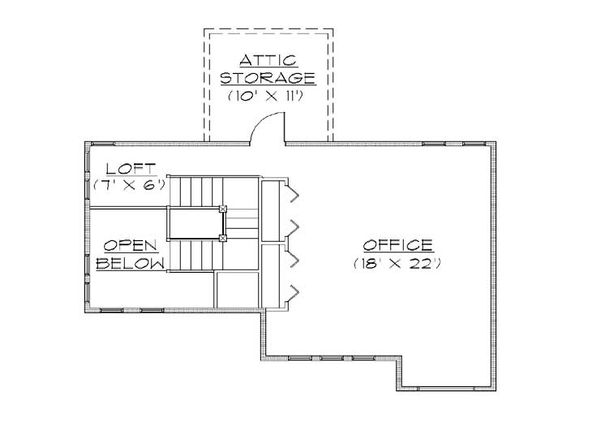Bungalow Floor Plan - Upper Floor Plan Plan #5-384