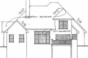 Traditional Style House Plan - 3 Beds 2.5 Baths 2058 Sq/Ft Plan #129-135 Exterior - Rear Elevation