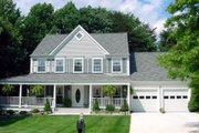 Farmhouse Style House Plan - 3 Beds 2.5 Baths 2778 Sq/Ft Plan #312-250 Exterior - Front Elevation