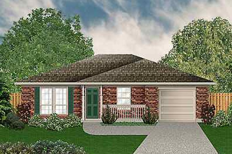 Dream House Plan - Cottage Exterior - Front Elevation Plan #84-101