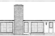 Colonial Exterior - Rear Elevation Plan #72-450