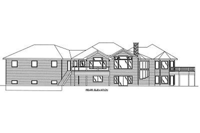 Bungalow Exterior - Rear Elevation Plan #117-518 - Houseplans.com