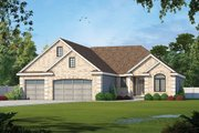 Traditional Style House Plan - 1 Beds 2 Baths 2083 Sq/Ft Plan #20-2307 Exterior - Front Elevation