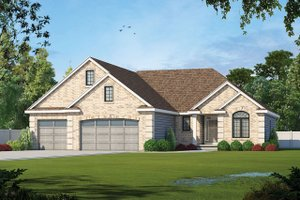 Traditional Exterior - Front Elevation Plan #20-2307