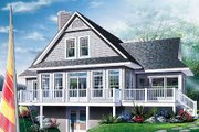Traditional Style House Plan - 3 Beds 2 Baths 1832 Sq/Ft Plan #23-385 Exterior - Rear Elevation