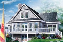 Dream House Plan - Traditional Exterior - Rear Elevation Plan #23-385