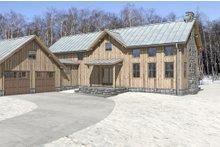 Cabin Exterior - Front Elevation Plan #497-47