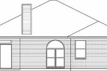 House Plan Design - Traditional Exterior - Rear Elevation Plan #84-115