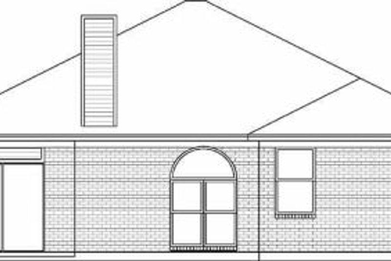 Traditional Exterior - Rear Elevation Plan #84-115 - Houseplans.com
