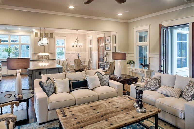 Farmhouse Interior - Family Room Plan #928-10 - Houseplans.com
