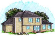 Ranch Style House Plan - 4 Beds 3 Baths 2316 Sq/Ft Plan #70-1033 Exterior - Rear Elevation