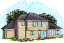 Ranch Exterior - Rear Elevation Plan #70-1033